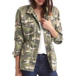 GAP camouflage butterfly decal jacket